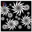 Absztrakt fekete-fehér virágok