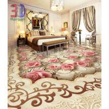 Rózsaszín virágos padló minta, absztrakt