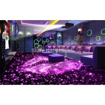 lila padlóra világított száj, bár