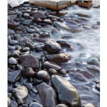 kövek a vízparton