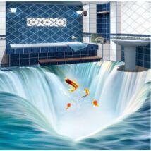Vízesésből kiugró halak