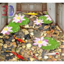 köves tó színes halakkal
