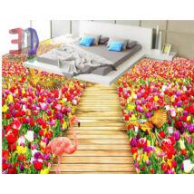 tulipános rét fahíddal