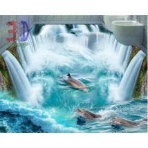 vízesés delfinekkel