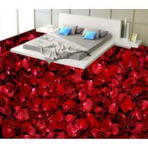 Vörös rózsaszirom szőnyeg