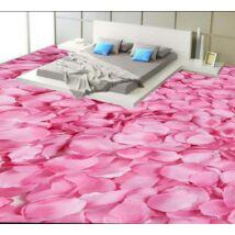 Rózsaszín rózsaszirom szőnyeg