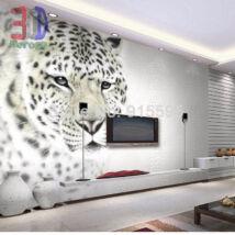 fekete-fehér leopárd fej