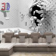 Kirobbanó fehér fal