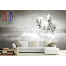 fehér lovak vízben