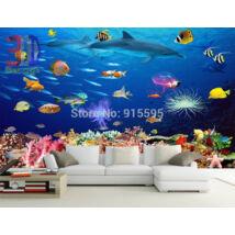 színes tengeri halak, korallok