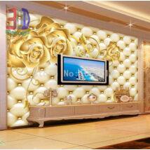 Arany rózsák arany párnázott falon