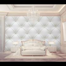 Fehér párnázott fal