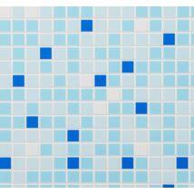 Kék mozaik falpanel (dark blue mosaic)