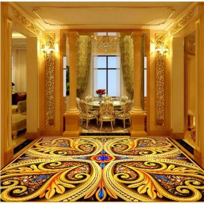 Színes barokk padlóminta