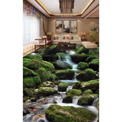 Zöld, mohás kövek