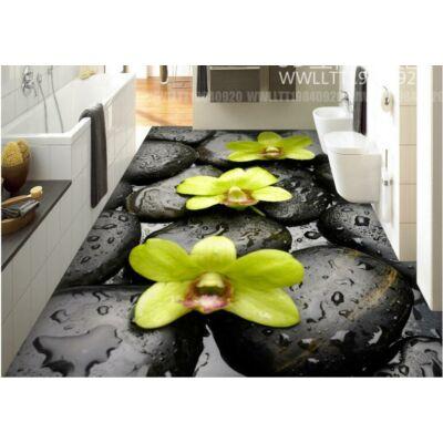 nagy vizes kövek virágokkal