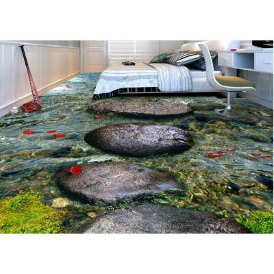 lapos folyami kövek halakkal