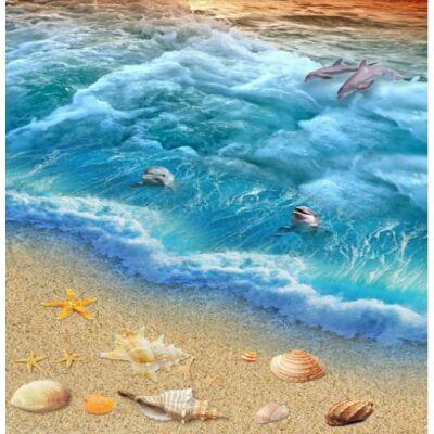 Habzó tenger delfinekkel