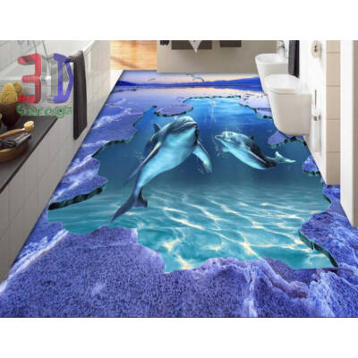lila tenger delfinekkel