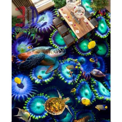 tengeri teknősök, korall