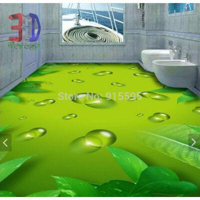 zöld víz levelekkel