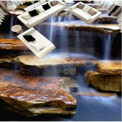 Fátyolos vízesés barna kövekkel