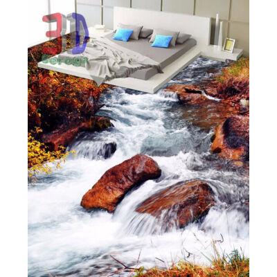 hegyi patak barna kövekkel