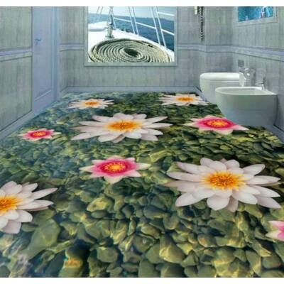 Virágok köves vízben