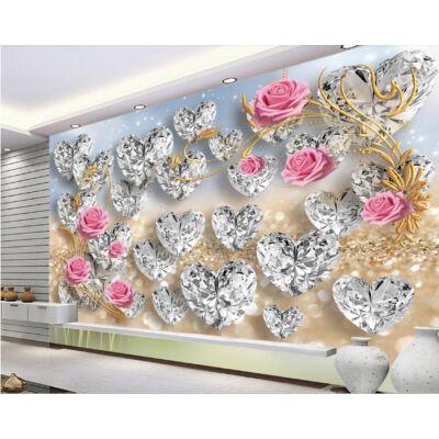 Gyémántszívek rózsákkal