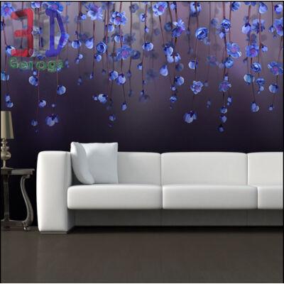 Kék virágfüggöny