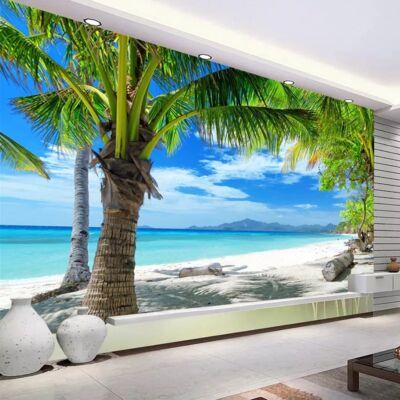 Fehér homokos tengerpart pálmafával