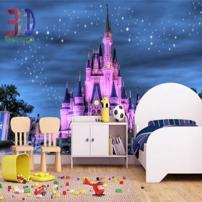 Disney-palota rózsaszín pompában
