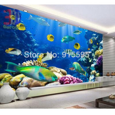 óceán világa, színes halak, korall sziget
