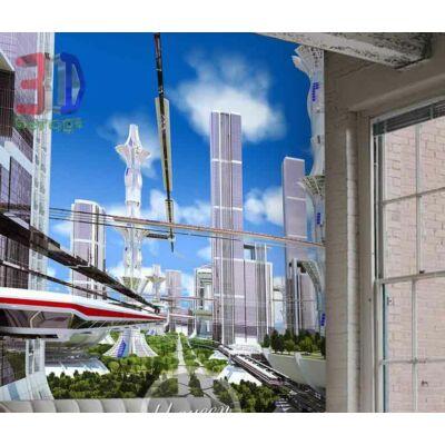 futurisztikus városkép
