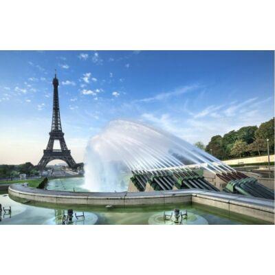 Eiffel torony szökőkúttal, Párizs
