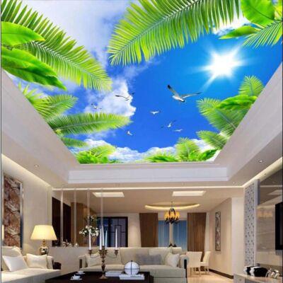 kék ég, zöld pálmalevelekkel