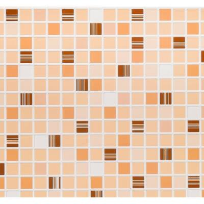 Barna mozaik csempe falpanel
