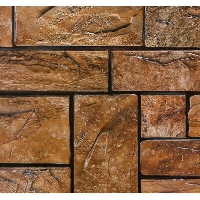 Barna kő falpanel